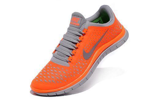 Nike Free 3.0 V4 Mens Running Shoe Total Orange Reflect Silver Wolf