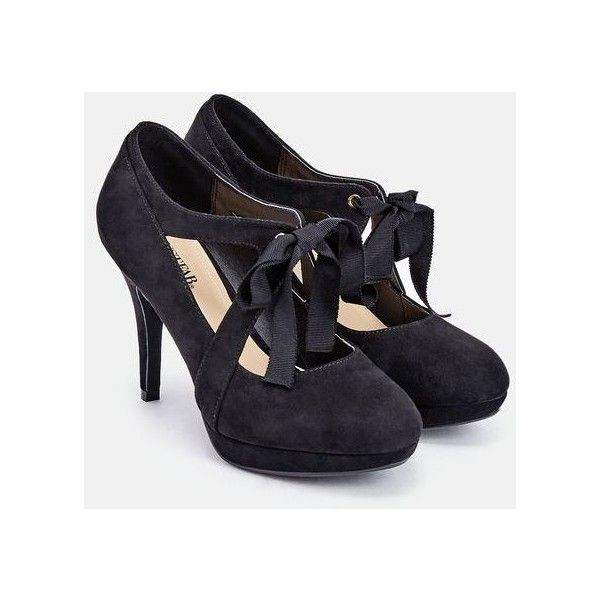 Justfab Pumps Ailani ($40) ❤ liked on Polyvore featuring shoes, pumps, black, strappy platform pumps, high heel shoes, black strappy shoes, high heel pumps and black high heel pumps