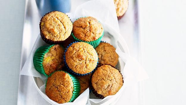 We all want to find the balance between food that is exciting for the kids to eat and also provides them with the good stuff they need for their health. These muffins are light, soft and yummy, but still have the added health benefit of oat bran hidden in them.