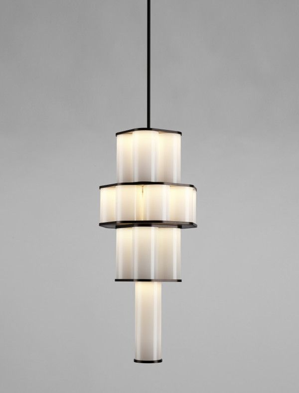 Bauer chandelier 02 white by Roll & Hill