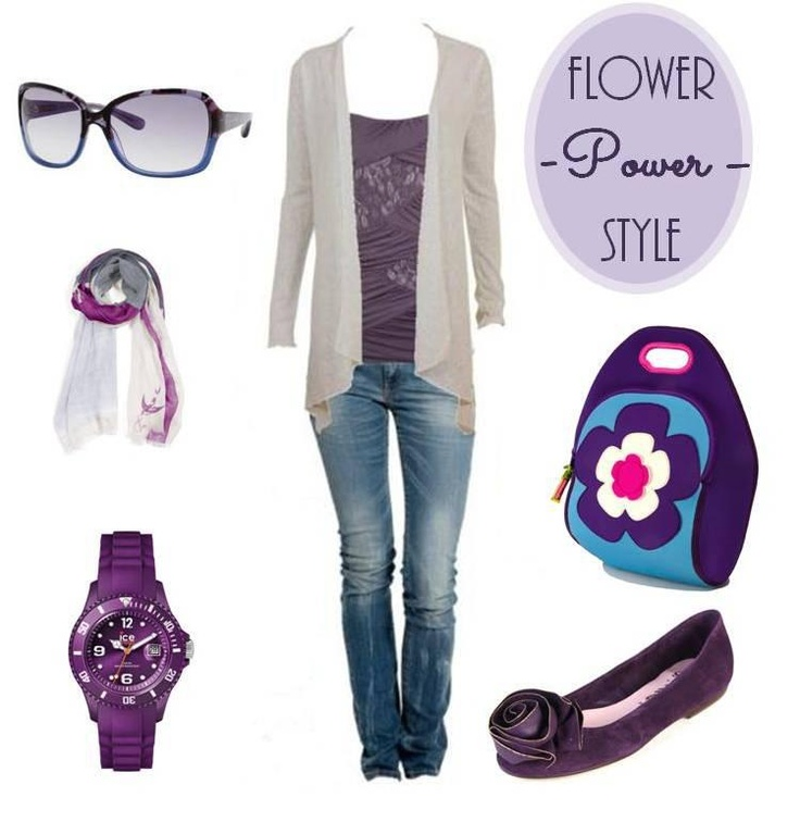 Flower Power Fashion Style  Encuéntrala en www.qipi.co  #dabbawallabags #purplestyle #flowerlunchbag