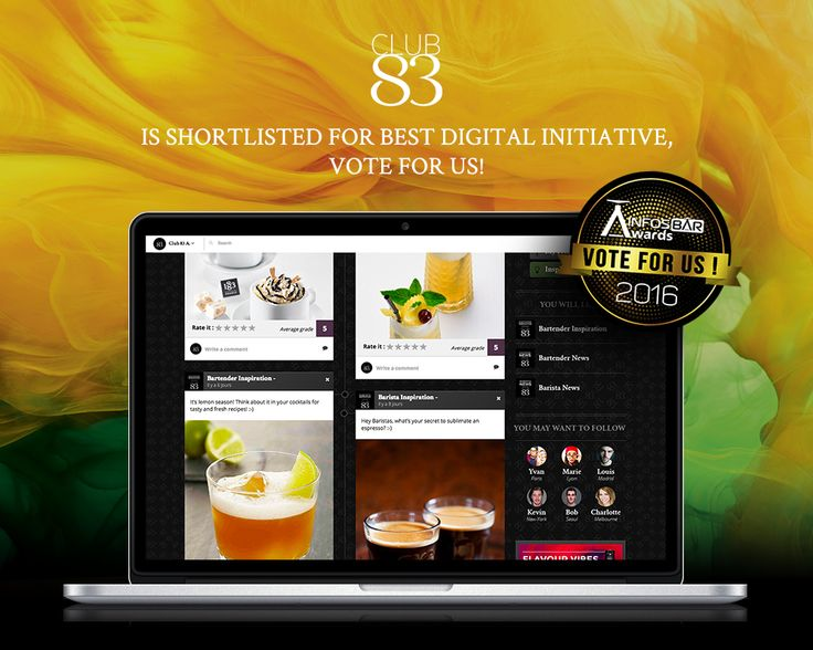 Club 83 is SHORTLISTED in the InfosBar awards, vote for us! http://bit.ly/2caoHXo