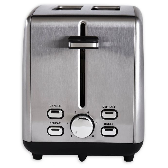 Professional Series 2 Slice Stainless Steel Wide Slot Toaster Bed Bath Beyond Stainless Steel Toaster Toaster Stainless Steel