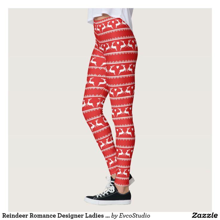 Reindeer Romance Designer Ladies Leggings