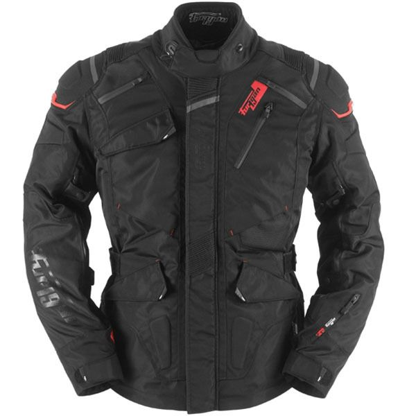 Furygan Vulcain 3 In 1 Jacket Black Bolt Bikes In 2020 Jackets Black And Red Motorcycle Jacket