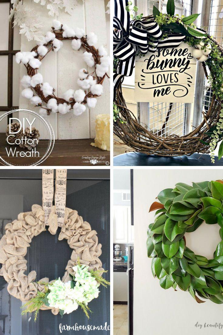 Farmhouse Frenzy 10 Farmhouse Wreath Tutorials Restore Create Renovate Diy Wreath Farmhouse Wreath Wreaths