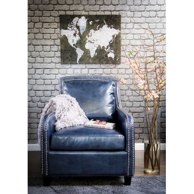 TOV Furniture Greenwich Leather Arm Chair