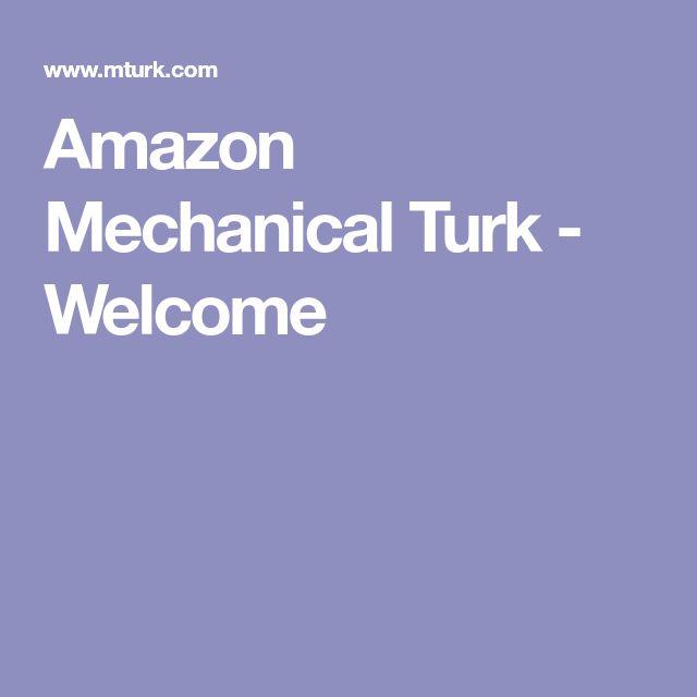 Amazon Mechanical Turk - Welcome
