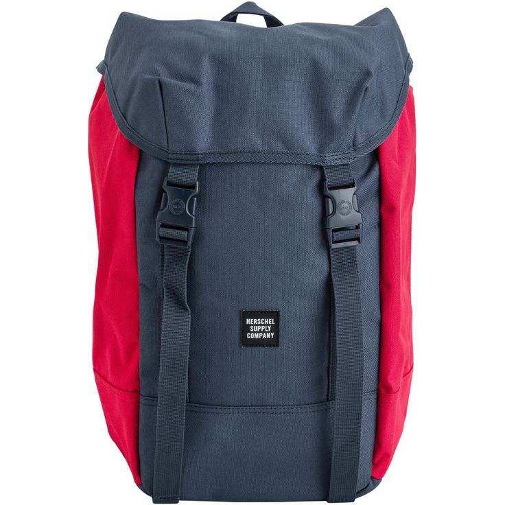 Herschel Iona backpack.     Large main compartment with cinch closure.     Strap closures on top flap.     Internal 15 inch laptop sleeve.     Herschel's signature striped fabric liner.     Contoured shoulder straps.     19.25 x 11.5 x 7 inches.     Volume: 24 liters.     100% polyester.     Imported.     Vendor style #: 10234-01220.