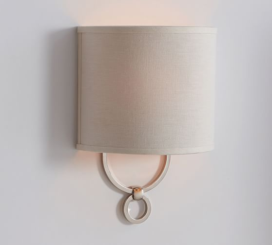 i could see sconces like this going up your stairs?  Francis Sconce, Polished Nickel finish