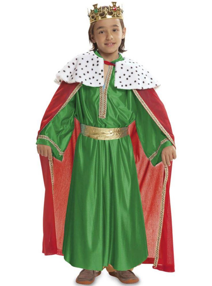 Disfraz de Rey de oriente verde para niño | Comprar