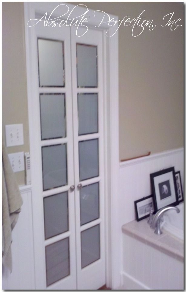 French Pane Bathroom doors, replace bathroom door with these or a frosted glass door