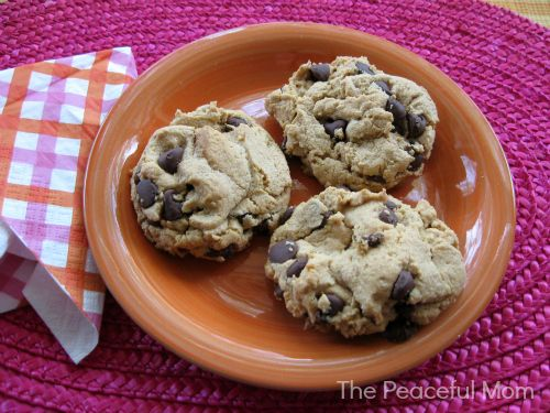 Flourless Gluten Free Peanut Butter Cookies. Easy and so delicious!--The Peaceful Mom
