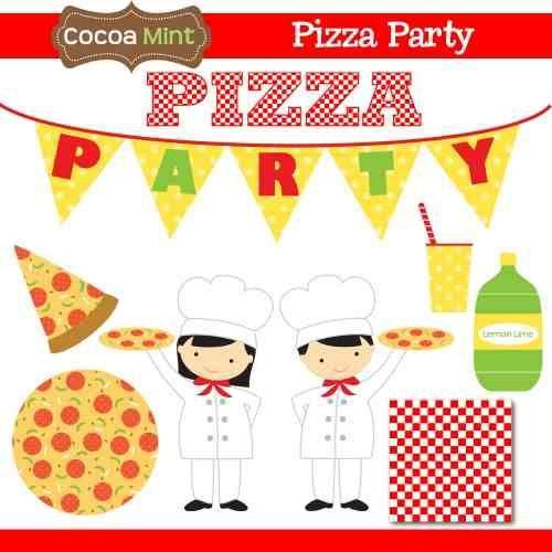 kit para scrapbook digital festa da pizza #2