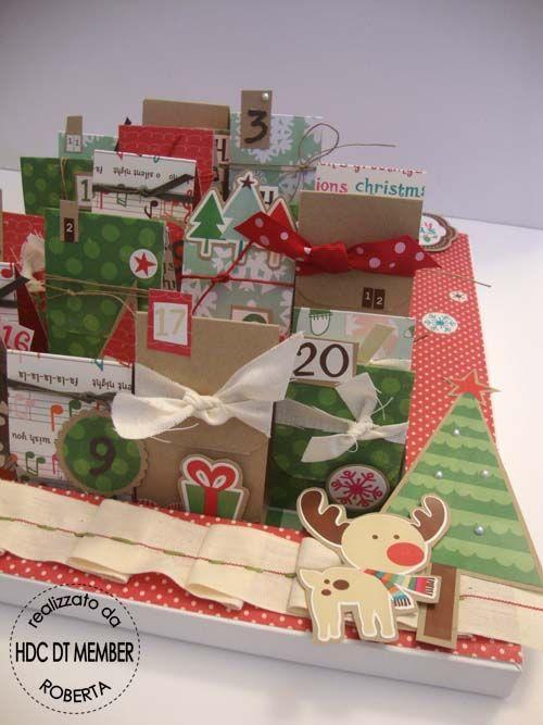 Hobby di Carta - Il blog: HOME DECORE ISPIRAZIONE: Calendario dellAvvento by Roberta
