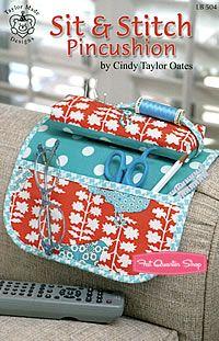 Sit & Stitch Pincushion Pattern Taylor Made Designs #LB-504 - Fat Quarter Shop