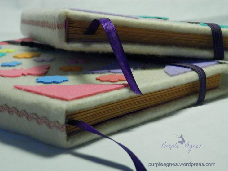 Handmade Journals for 2 sisters, Hardcover, Felt Cover, picture 2