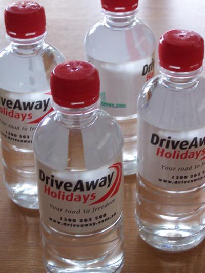 Drink up .. branded water for sports events, trade fairs and other events. #brandedwater #thrivepromotional