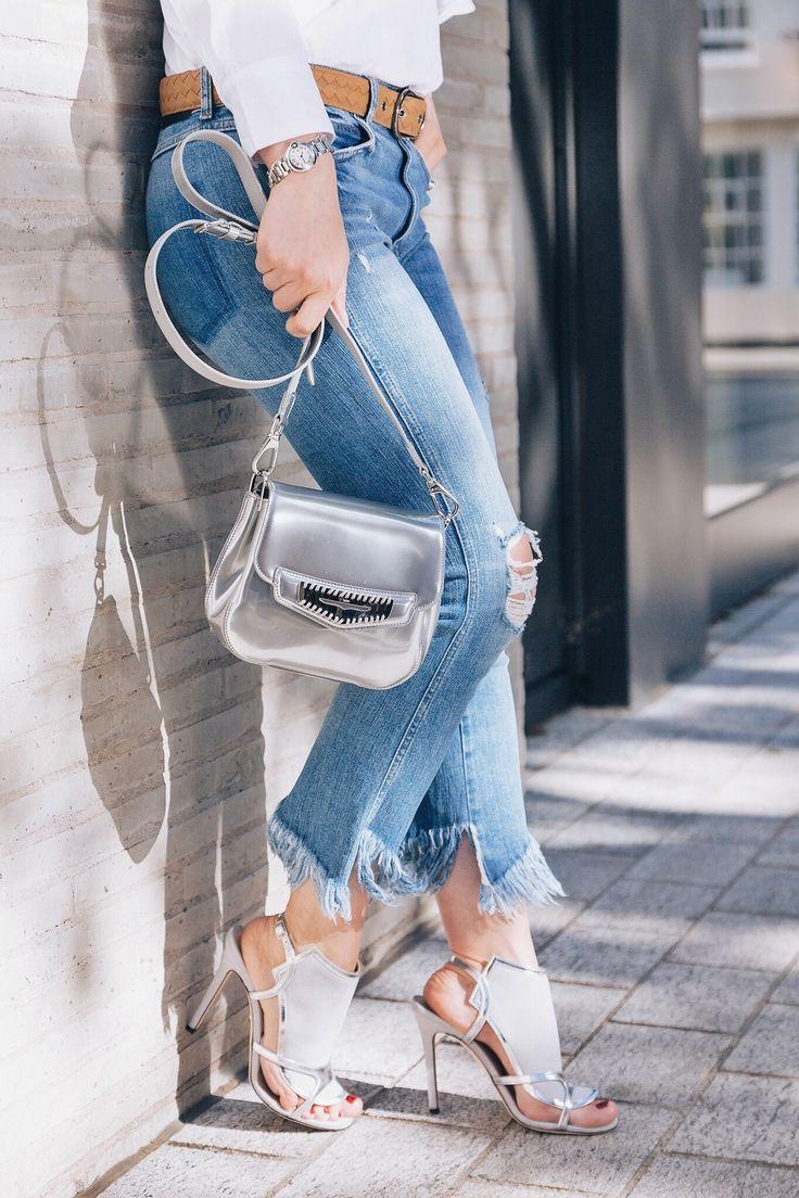 Silver handbag Tods