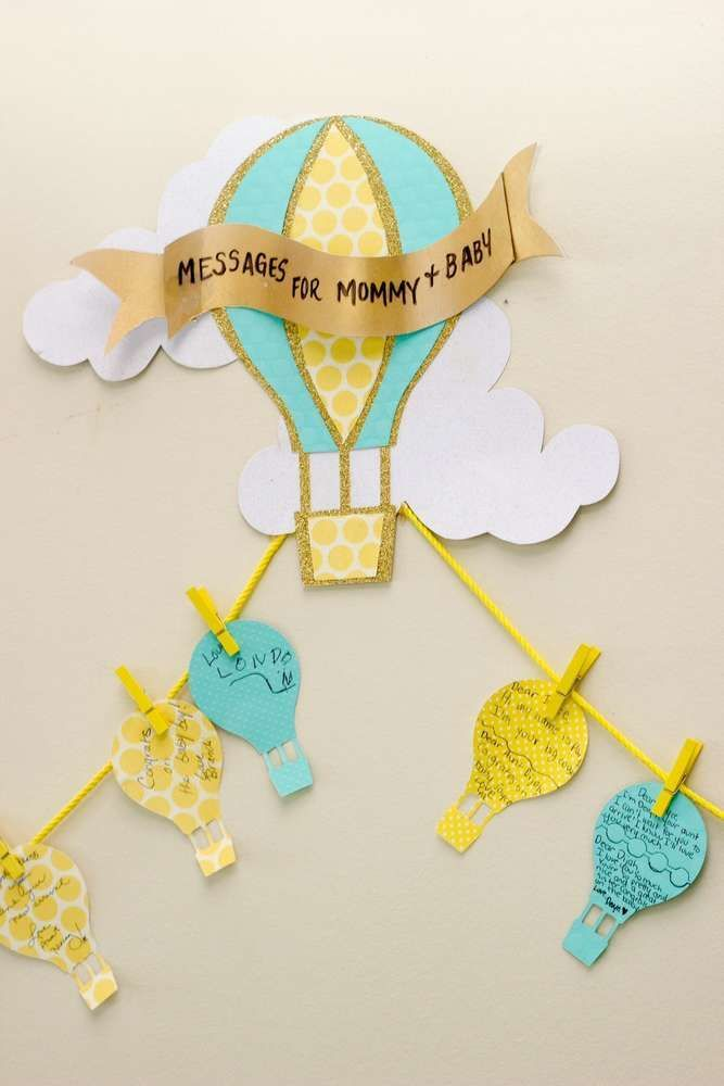 Messages for mommy at a hot air balloon baby shower birthday party! See more party ideas at CatchMyParty.com!