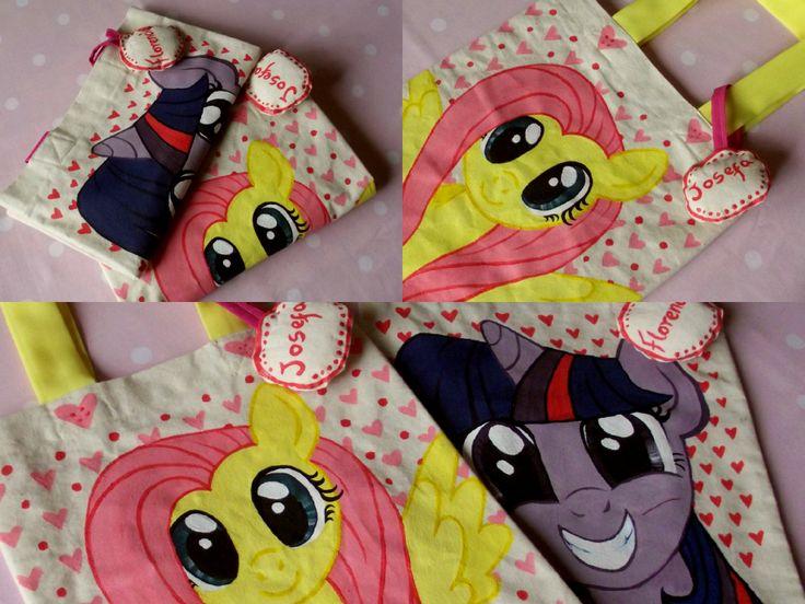 my little pony totebags para niñas  hechas y pintadas a mano   https://www.facebook.com/anto.anto.collao
