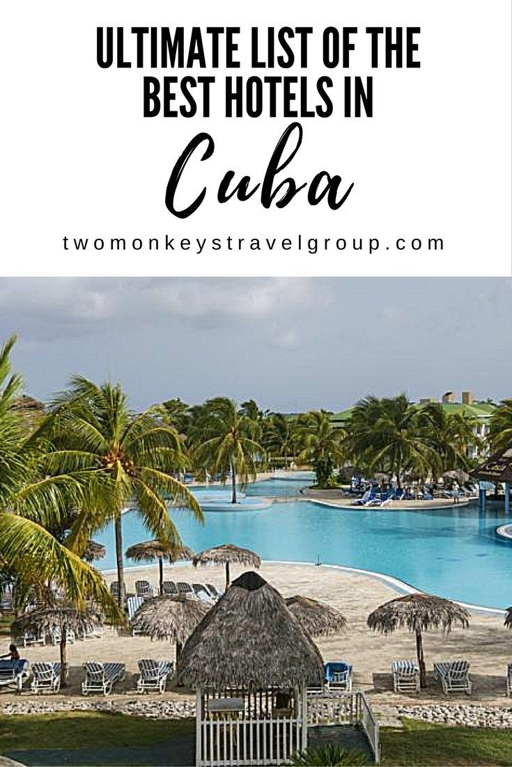 Ultimate List of the Best Hotels in Cuba  After defrosting the chilly relations between America and Cuba, this Caribbean island nation has then shifted into a booming tourism spot, with growing percentage visits from U.S. residents mainly.