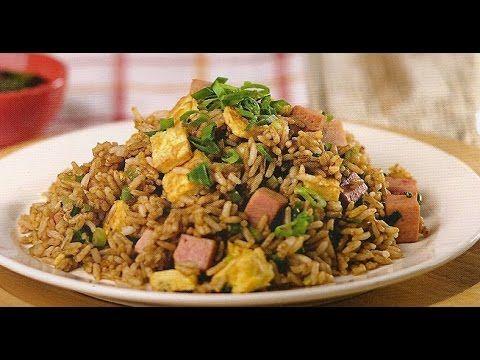 Como hacer Arroz chaufa peruano/how to make chinese peruvian fried rice..