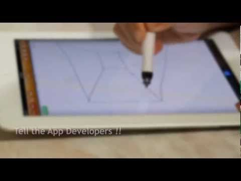 iPen: the first active stylus for iPad!    Visto en Kickstarter http://www.kickstarter.com/projects/1225098940/ipen-the-first-active-stylus-for-ipad?ref=video    Compra: http://www.cregle.com/ipen