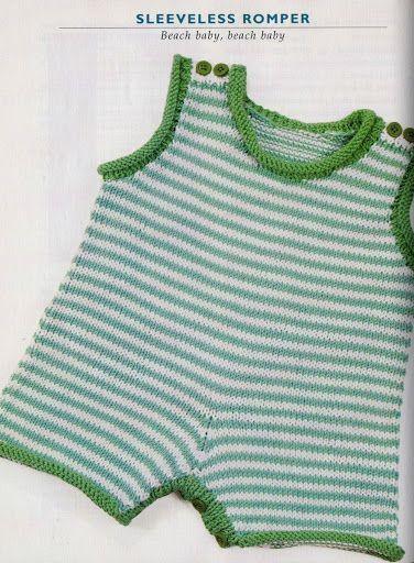 free pattern baby romper, вязание для детей - ВОГ - Татьяна Банацкая - Álbumes…