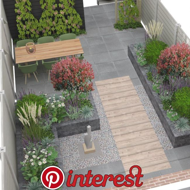 Another Great Project Residents Want To Have Their Garden Elderly Friendly I Love The 120x30 Cm Wood Look Tile Garden Tiles Minimalist Garden Patio Garden