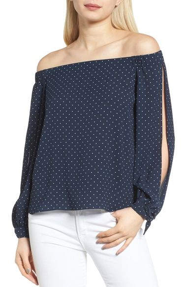 Playful polka dots make this an easy, breezy choice for spring time dressing