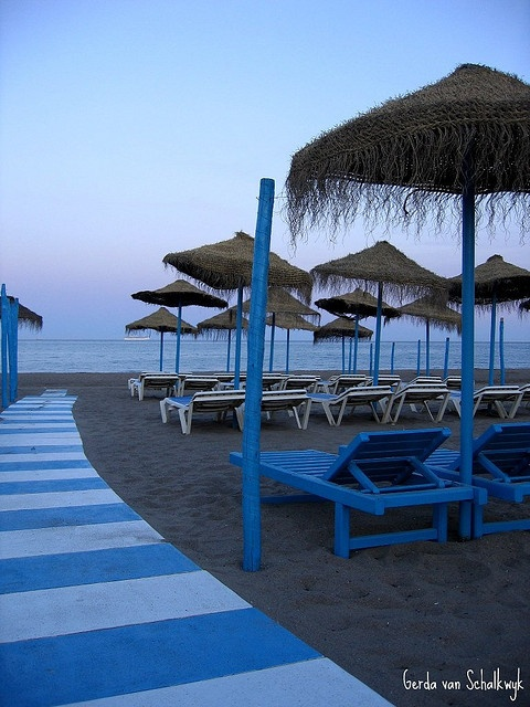 Torremolinos, Costa del Sol - sat right on this beach. Wow!