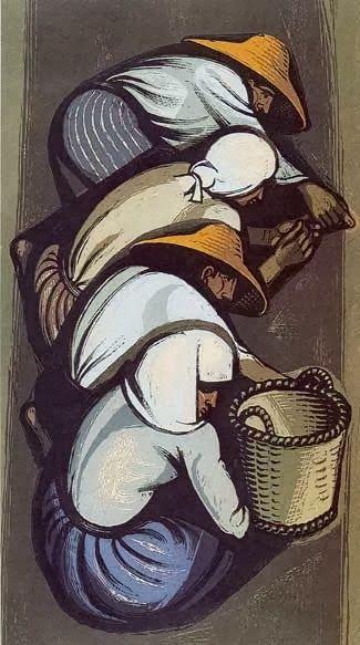 """""""Ο Καρπός"""",ξυλογραφία σε πλάγιο ξύλο,Τάσσος"""