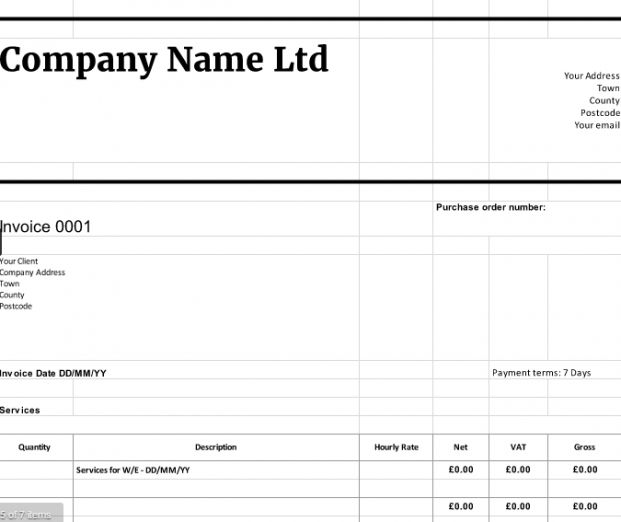 Explore Our Example Of Limited Company Invoice Template Invoice Template Invoicing Templates Free Design