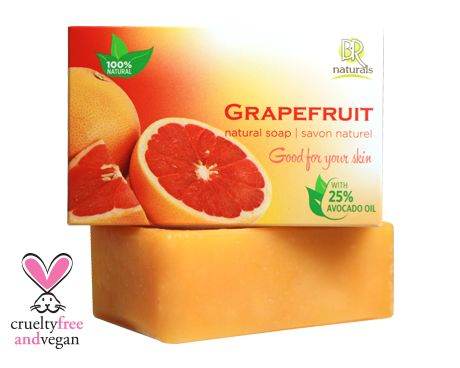 GRAPEFRUIT  Our bar is enriched with a generous amount of grapefruit oil, known for its superior moisturizing and nourishing properties, it is also said to act as protection for healthy, young looking skin. Grapefruit oil boosts the production of elastin and hyaluronic acid, so you can tighten and tone while gently cleansing your skin!