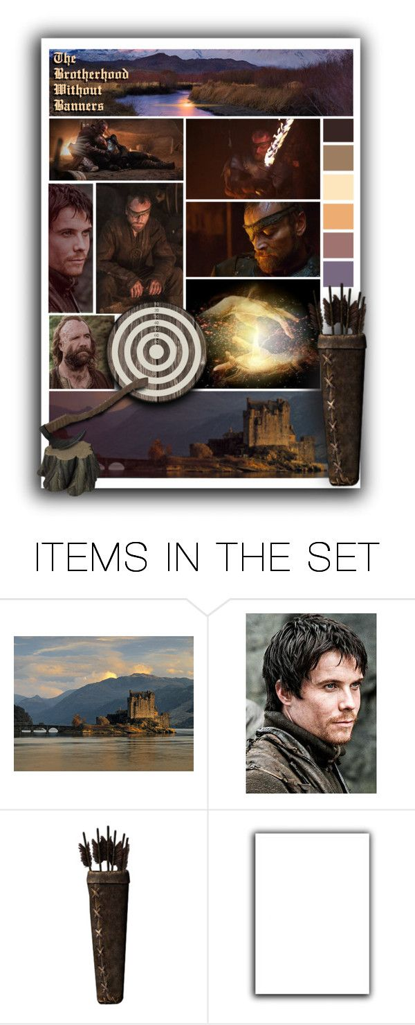 """""""The Brotherhood Without Banners"""" by annette-heathen ❤ liked on Polyvore featuring art and GameOfThrones"""