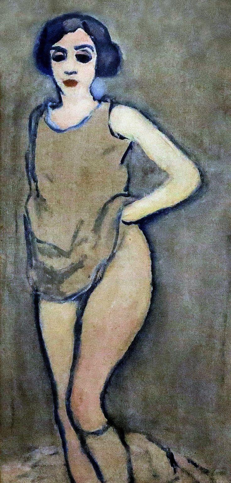 Kees van Dongen. 1877-1968:   Paris. Femme à la chemise. Woman in shirt. 1908.