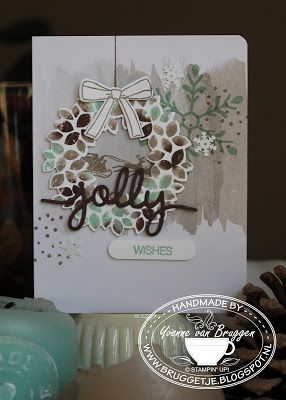 Yvonne is Stampin' & Scrapping: Stampin' Up! Christmas Card Wonderous Wreath…