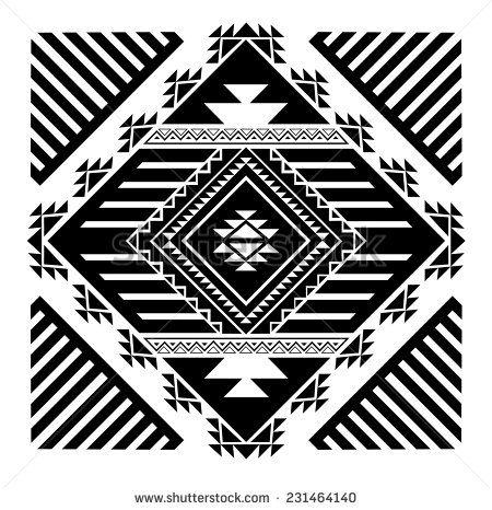 Navajo - Aztec big pattern vector illustration - stock vector