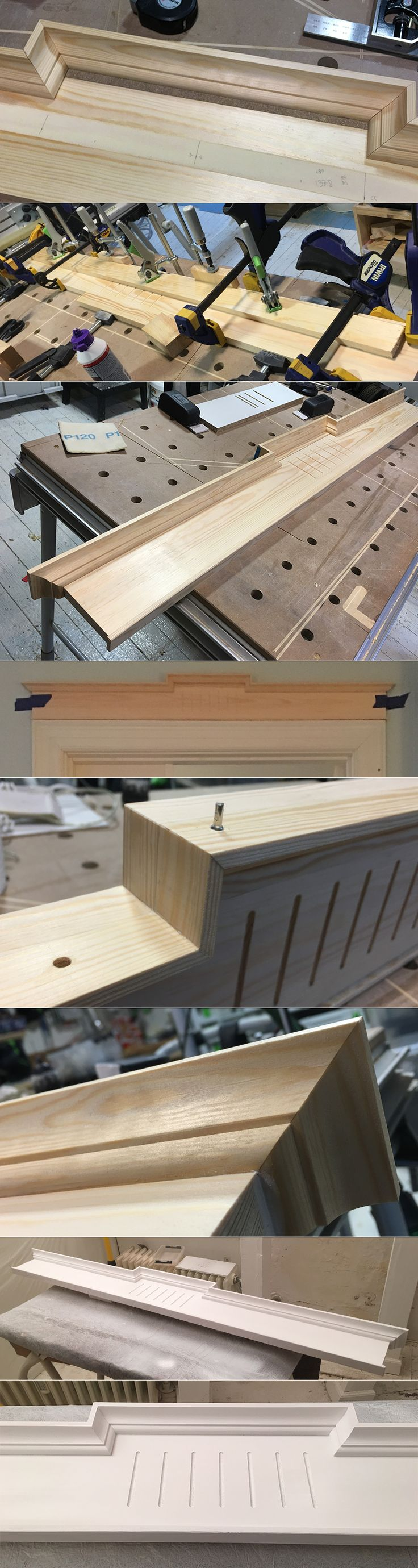 I'm dreaming of a classic decorative door piece for our Frederiksberg apartment. Finding the balance in the design using most of my skills in the my woodshop and all Festool tools. Kapex, domino, router table and eccentric sander. And learning to spray paint :-) #woodshop #festool #customdesign
