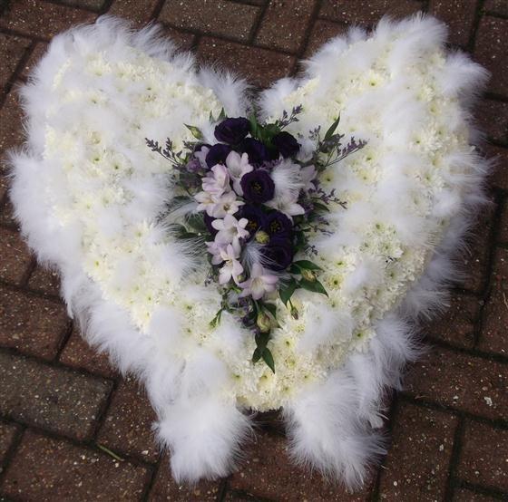funeral flowers - Angel Wings