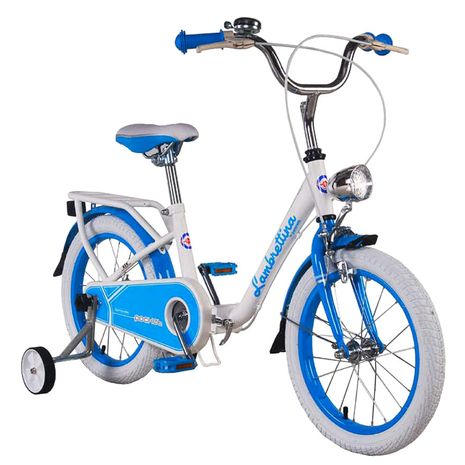 Vehicule pentru copii :: Biciclete si accesorii :: Biciclete :: Bicicleta copii pliabila Lambrettina blue 16 ATK Bikes