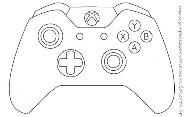 Molde De Controle De Videogame Xbox One Moldes