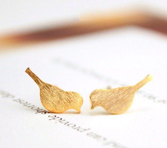 New Fashion  Brushed Bird Stud Earrings for Women Classic Animal Bird Women Earrings Party Gift [Affiliate]