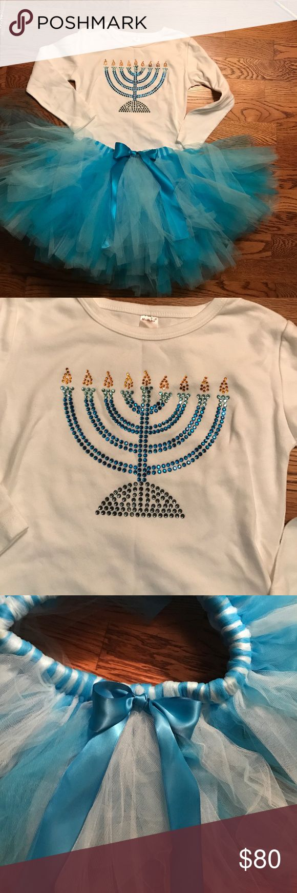 Selling this Hanukkah Dress, Tutu, Bling Outfit-never worn on Poshmark! My username is: dominique13. #shopmycloset #poshmark #fashion #shopping #style #forsale #Other
