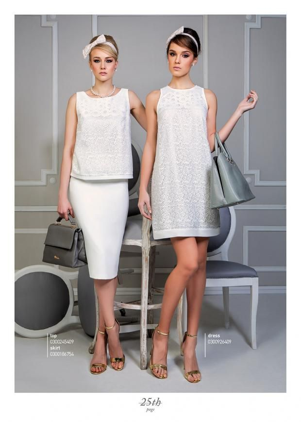 Pure white sensational outfits...