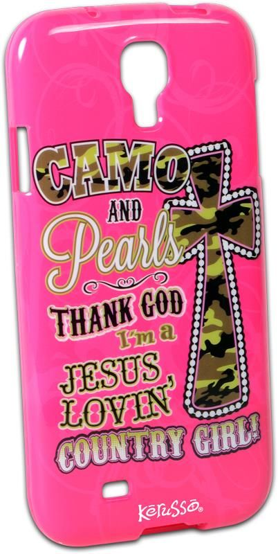 Camo and Pearls Samsung Galaxy 4 Christian Phone Case