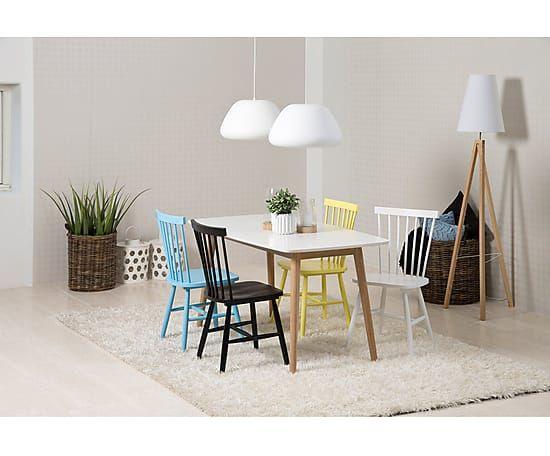 """Komplet 2 krzeseł """"Riano Yellow"""", 48 x 48,5 x 86 cm"""