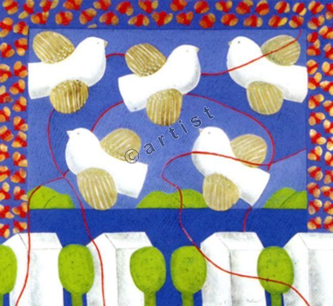 Φαίδων Πατρικαλάκις, Αιγαιοπελαγίτικο δοξαστικό, 2003, λάδι σε μουσαμά, 120 x 110 εκ.