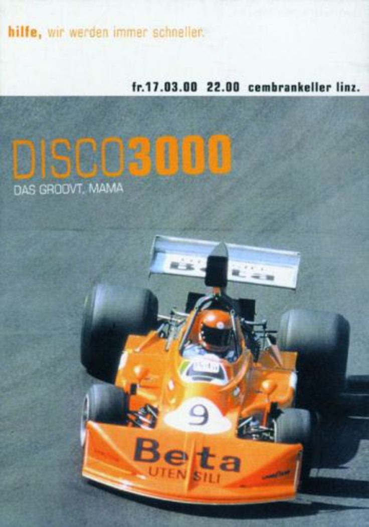 "Read more: https://www.luerzersarchive.com/en/magazine/print-detail/disco-2000-disco-3000-30663.html Disco 2000, Disco 3000 Various flyers for the music club ""Disco 2000"" and ""Disco 3000"". Tags: Guenter Klinger,Buchegger, Denoth, Feichtner / Haslinger, Keck, Linz, Linz,Isabella Groedl,Disco 2000, Disco 3000"